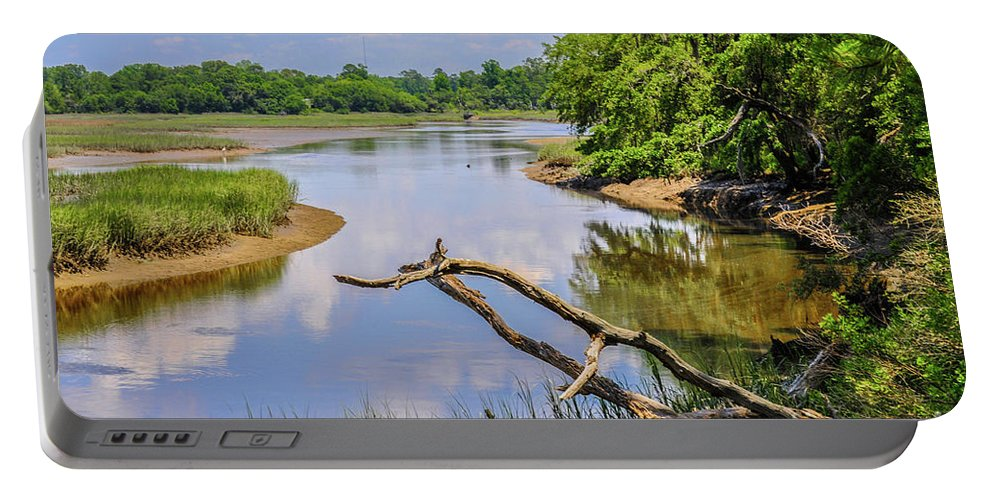 Edisto Portable Battery Charger featuring the photograph Edisto Creek by Yvette Wilson