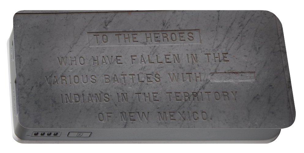 Marble Portable Battery Charger featuring the photograph Edited Deleted History by Rob Hans
