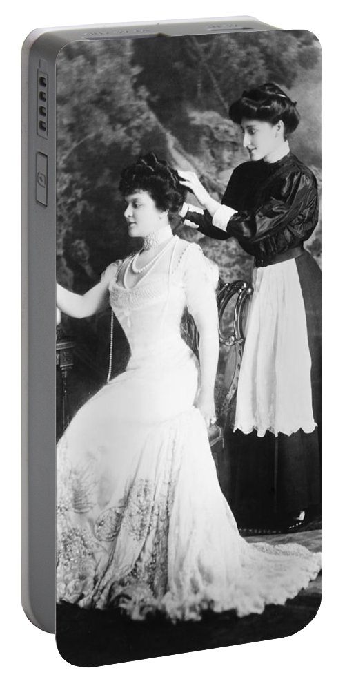 1908 Portable Battery Charger featuring the photograph Edith M. Kingdon (1864-1921) by Granger
