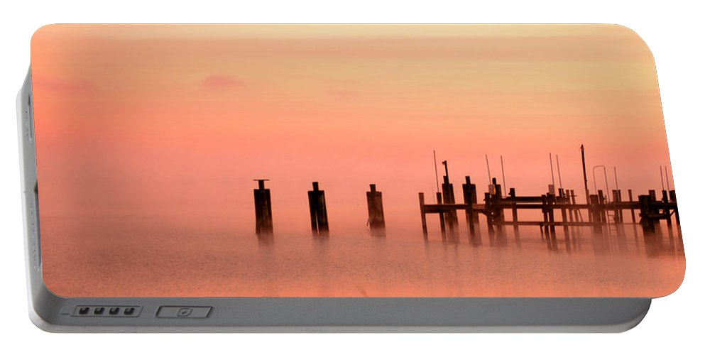 Clay Portable Battery Charger featuring the photograph Eery Morn by Clayton Bruster