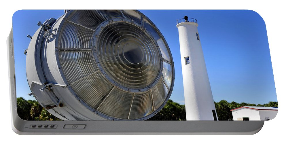 Fine Art Photography Portable Battery Charger featuring the photograph Egmont Key Lighthouse 1858 by David Lee Thompson