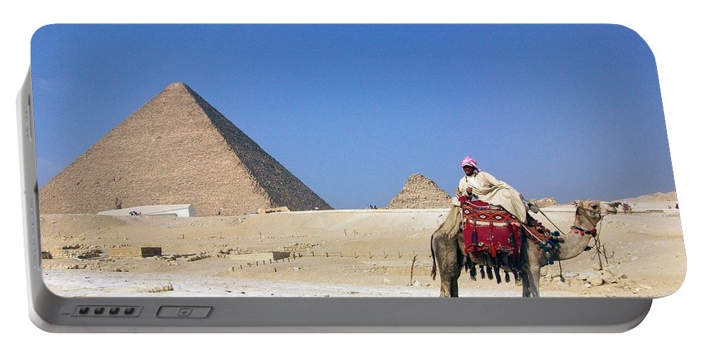 Egypt Portable Battery Charger featuring the photograph Egypt - Pyramid by Munir Alawi