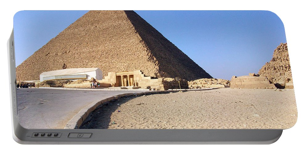 Egypt Portable Battery Charger featuring the photograph Egypt - Way To Pyramid by Munir Alawi