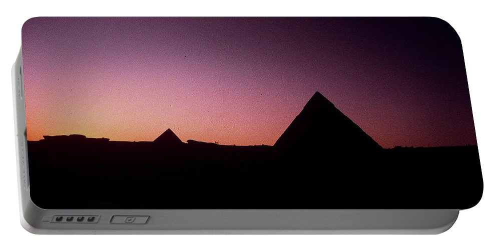 Egypt Portable Battery Charger featuring the photograph Egyptian Sunset by Gary Wonning