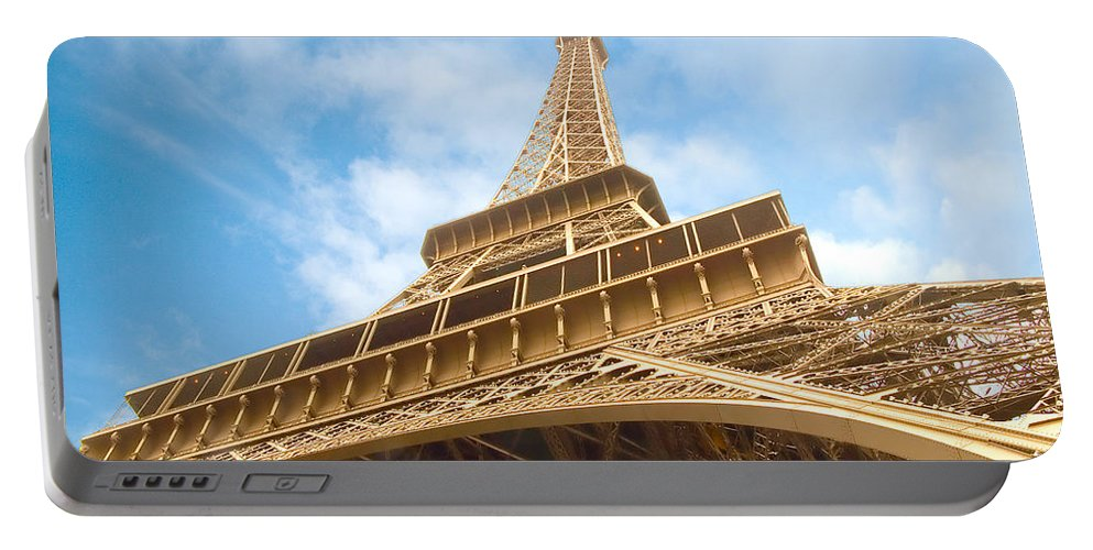 Eiffel Tower Portable Battery Charger featuring the photograph Eiffel Tower by Mick Burkey