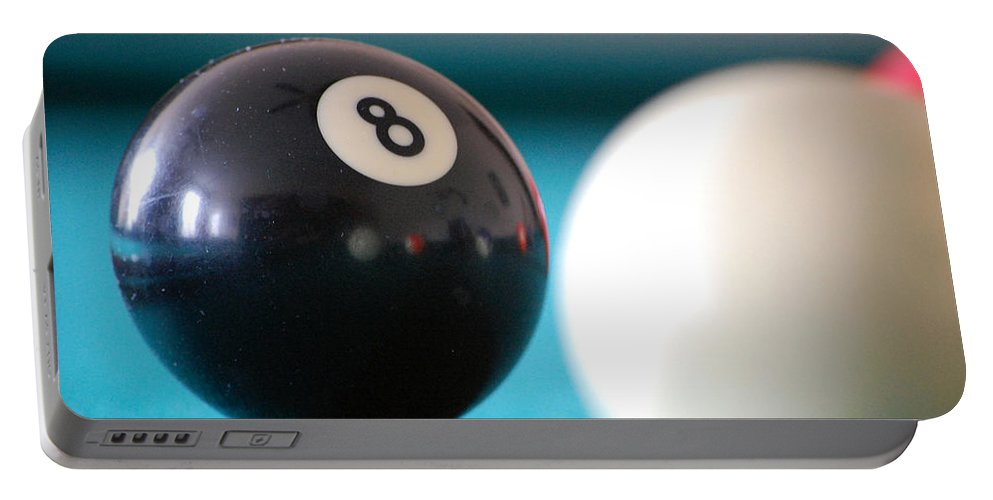 Billiards Portable Battery Charger featuring the photograph Eightball by Robert Meanor