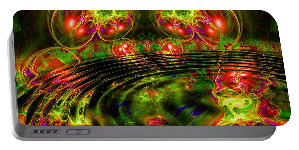Green Portable Battery Charger featuring the digital art Einstein's Dream- by Robert Orinski