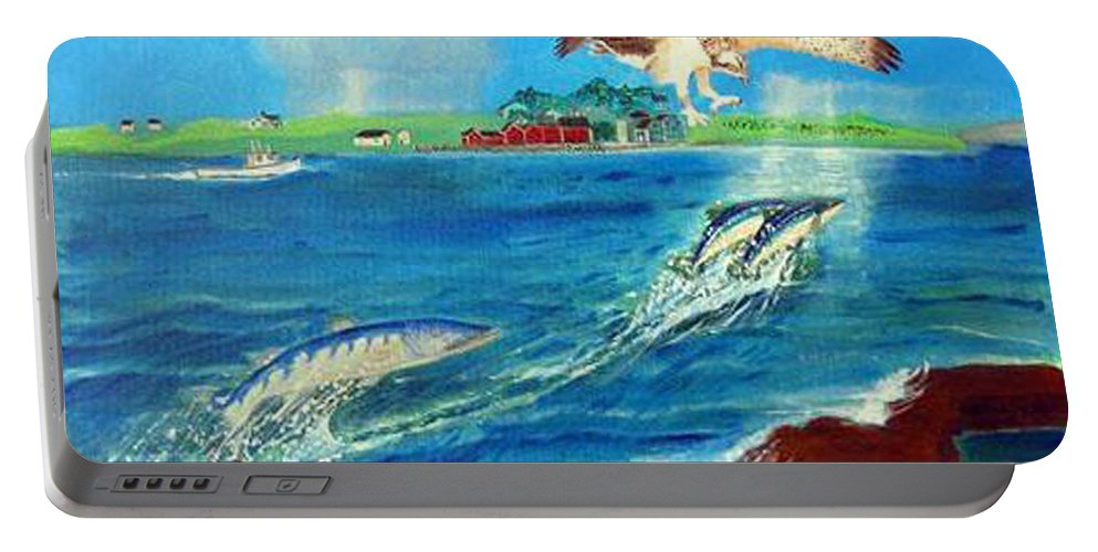 Osprey Portable Battery Charger featuring the painting Either Way by Richard Le Page