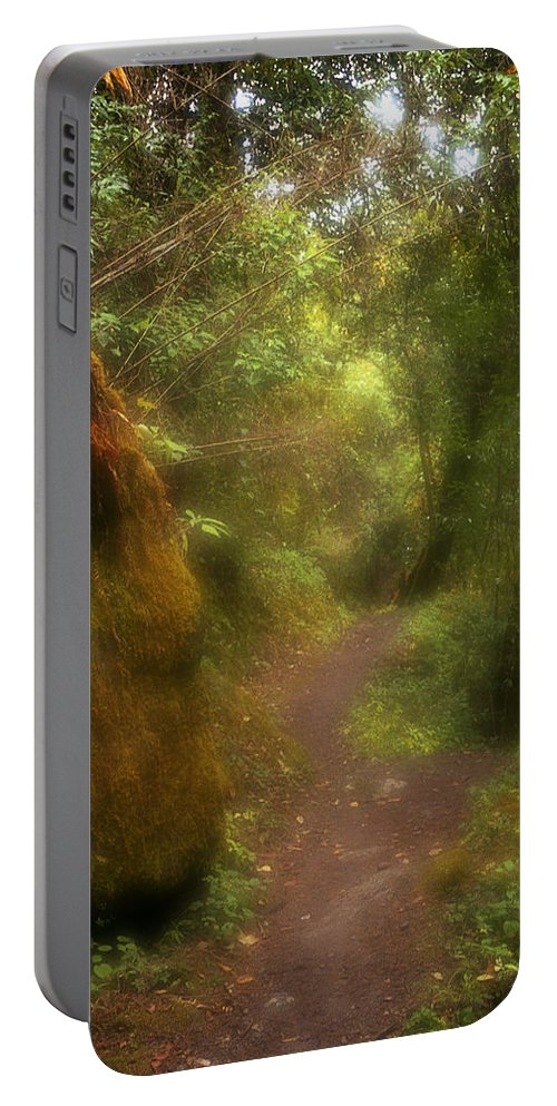 Path Portable Battery Charger featuring the photograph El Camino by Patrick Klauss