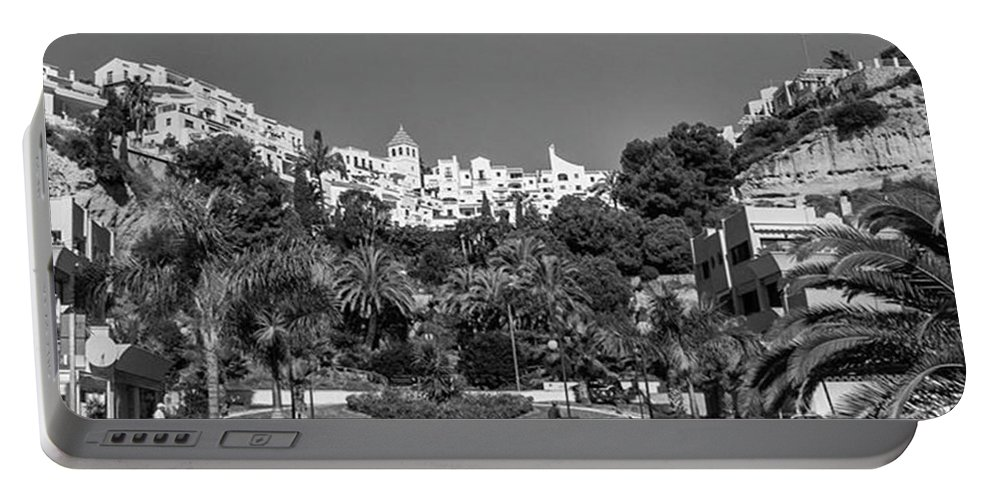 Mediterranean Portable Battery Charger featuring the photograph El Capistrano, Nerja by John Edwards