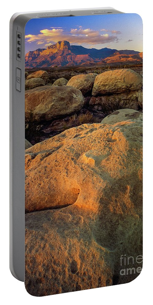America Portable Battery Charger featuring the photograph El Capitan Texas by Inge Johnsson