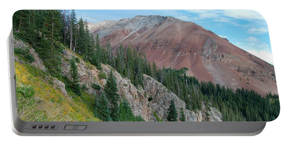 El Diente Portable Battery Charger featuring the photograph El Diente Peak by Cascade Colors