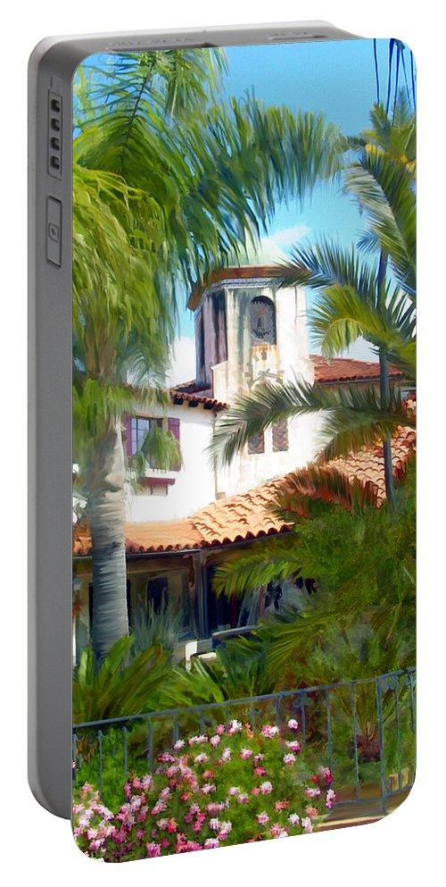Santa Barbara Portable Battery Charger featuring the photograph El Presidio by Kurt Van Wagner