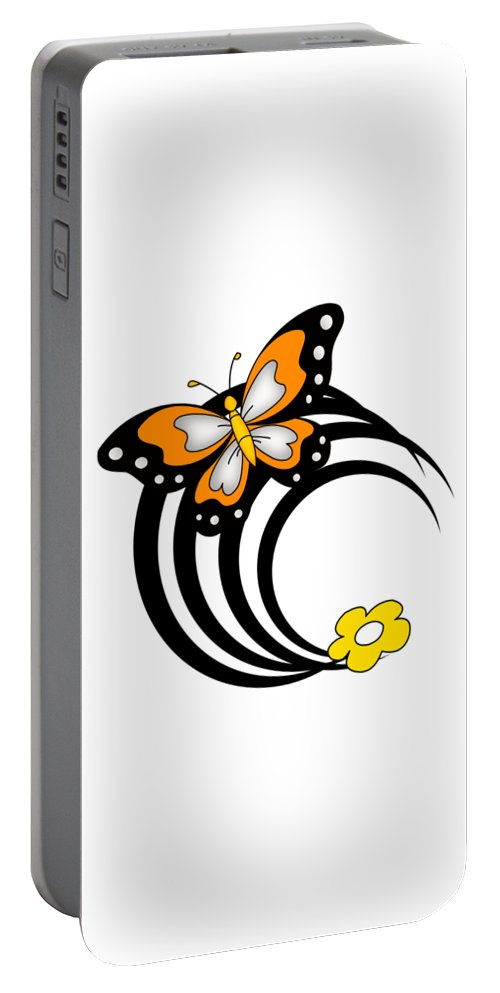 Portable Battery Charger featuring the drawing El Rabeea by Mostafa Elsayed