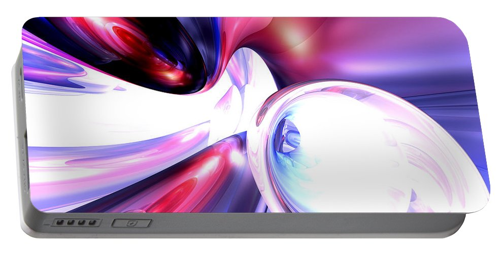 3d Portable Battery Charger featuring the digital art Elation Abstract by Alexander Butler