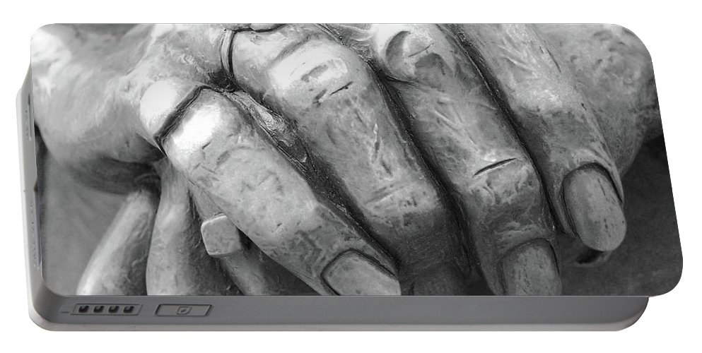 Elderly Portable Battery Charger featuring the photograph Elderly Hands by Jost Houk