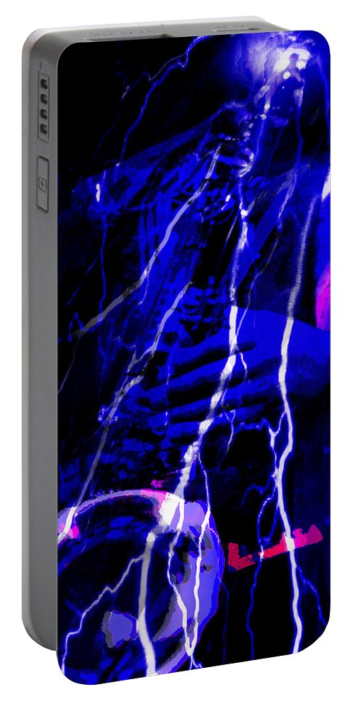 Jazz Portable Battery Charger featuring the digital art Electric Ave. by Ken Walker