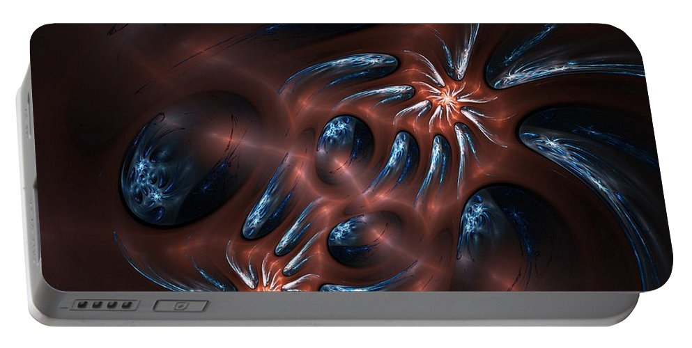 Digital Painting Portable Battery Charger featuring the digital art Electric Crabs by David Lane