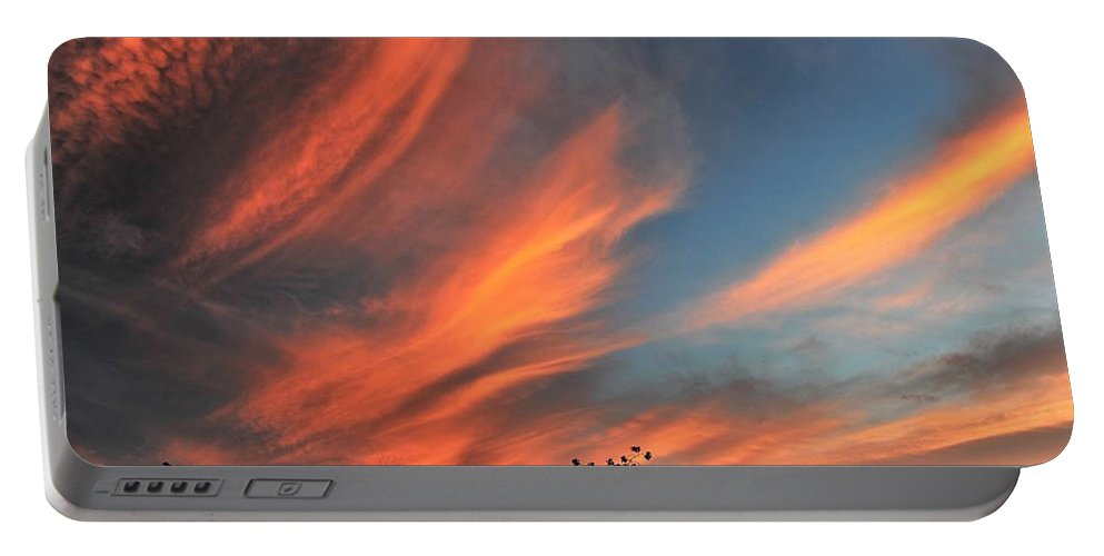 Sunsets Portable Battery Charger featuring the photograph Electric Hawaiian Sunset Big Island Hawaii by Heidi Fickinger