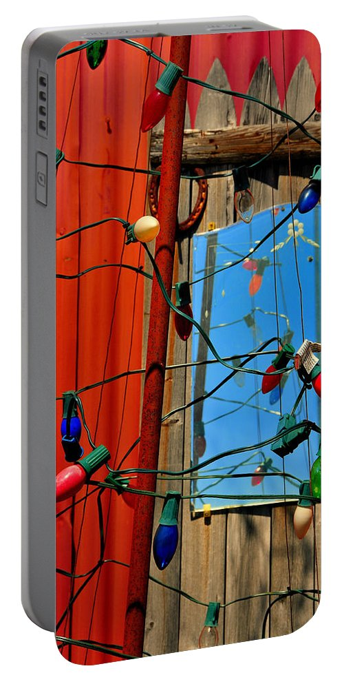 Skip Hunt Portable Battery Charger featuring the photograph Electric Lady Land by Skip Hunt
