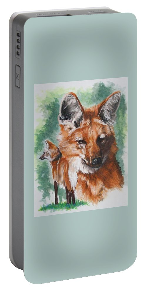 Canine Portable Battery Charger featuring the mixed media Elegant by Barbara Keith