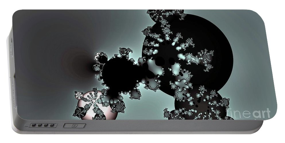 Fractal Portable Battery Charger featuring the digital art Elemental by Ron Bissett