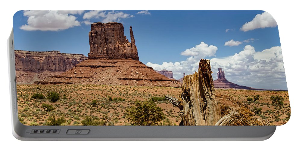 Landscape Portable Battery Charger featuring the photograph Elephant Butte - Monument Valley - Arizona by Jon Berghoff