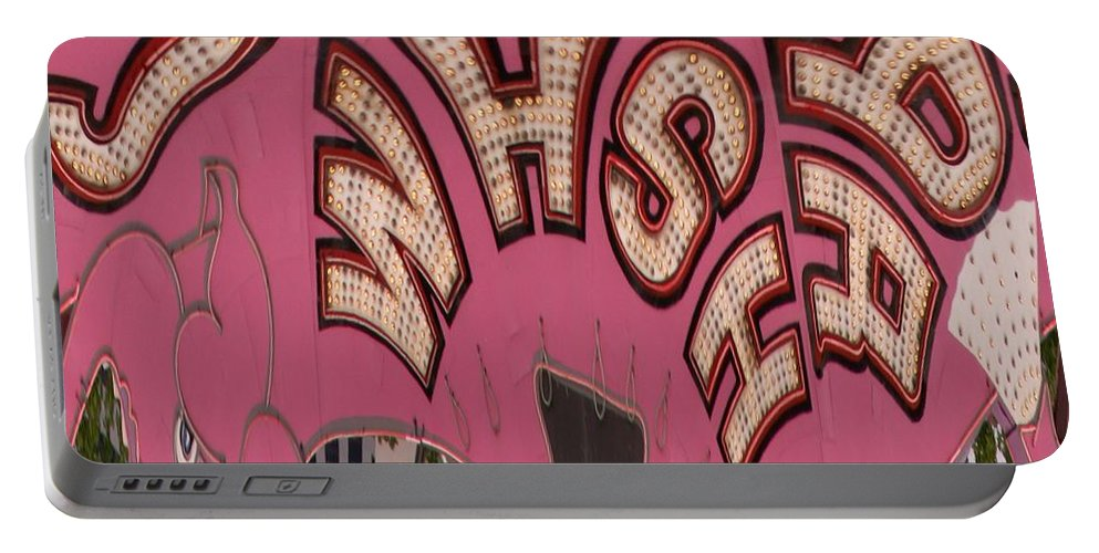 Seattle Portable Battery Charger featuring the digital art Elephant Car Wash by Tim Allen
