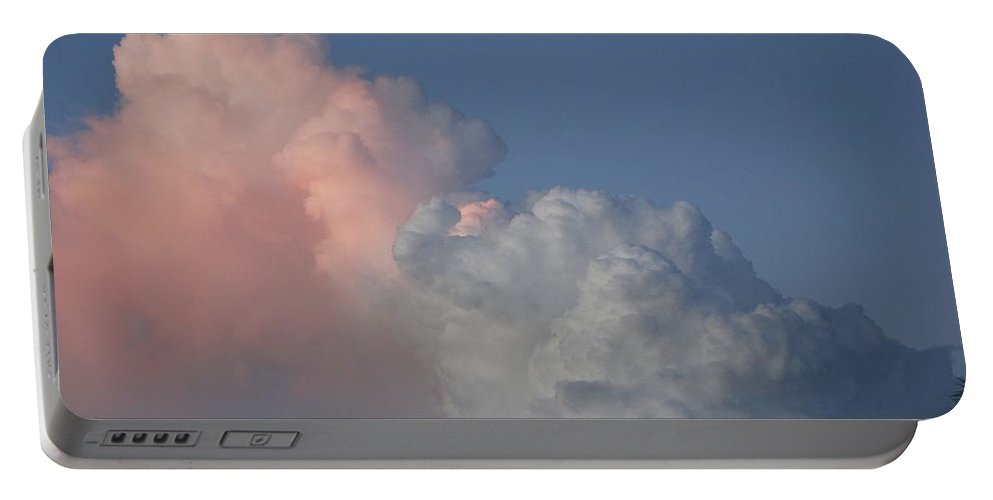 Clouds Portable Battery Charger featuring the photograph Elephant Cloud by Rob Hans