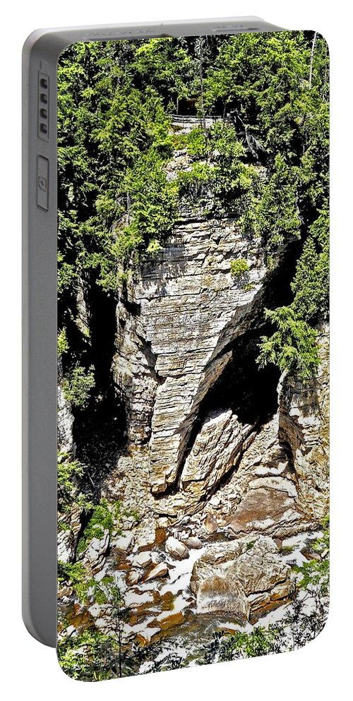 North America Portable Battery Charger featuring the photograph Elephant Head ... by Juergen Weiss