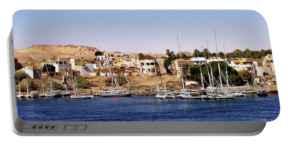 Aswan Portable Battery Charger featuring the photograph Elephantine Island Aswan by Debbie Oppermann