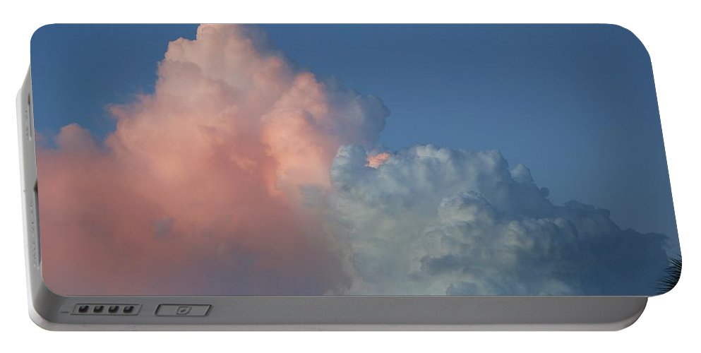 Clouds Portable Battery Charger featuring the photograph Elephants Clouds by Rob Hans
