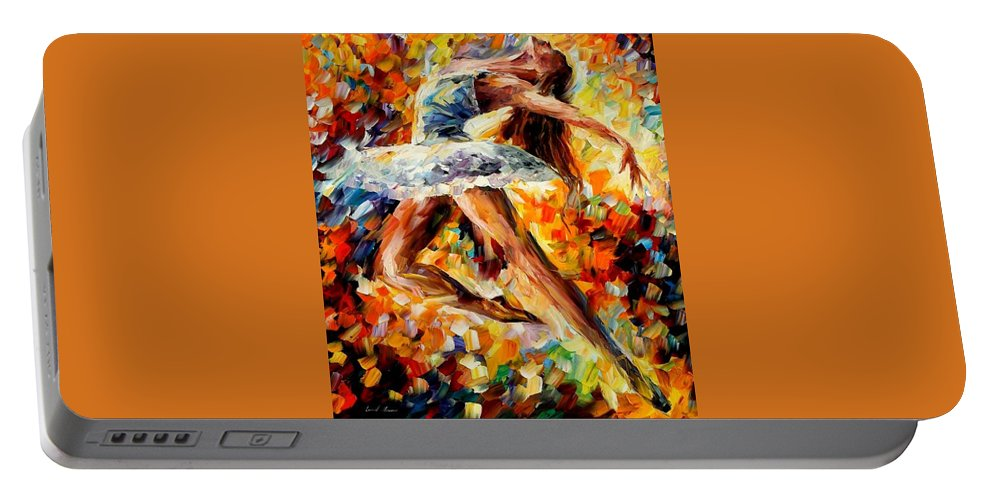 Afremov Portable Battery Charger featuring the painting Elevation by Leonid Afremov