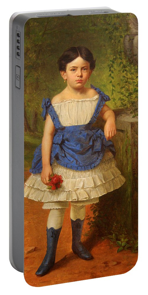 Henry Mosler Portable Battery Charger featuring the painting Elizabeth Moerlein by Henry Mosler