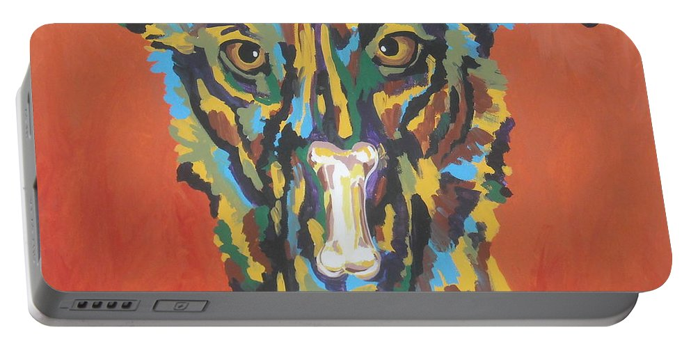 Dog Portable Battery Charger featuring the painting Elsa by Caroline Davis