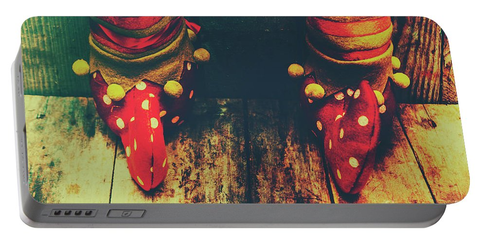 Christmas Portable Battery Charger featuring the photograph Elves And Feet by Jorgo Photography - Wall Art Gallery