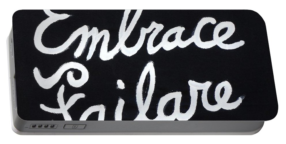 Failure Portable Battery Charger featuring the painting Embrace Failare by John Kilduff