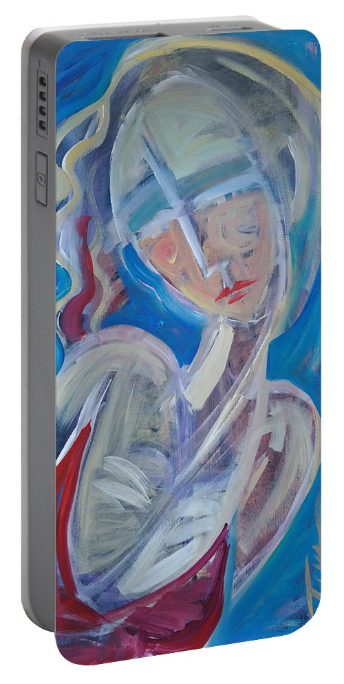 Woman Portable Battery Charger featuring the painting Embrace Me by Tim Nyberg