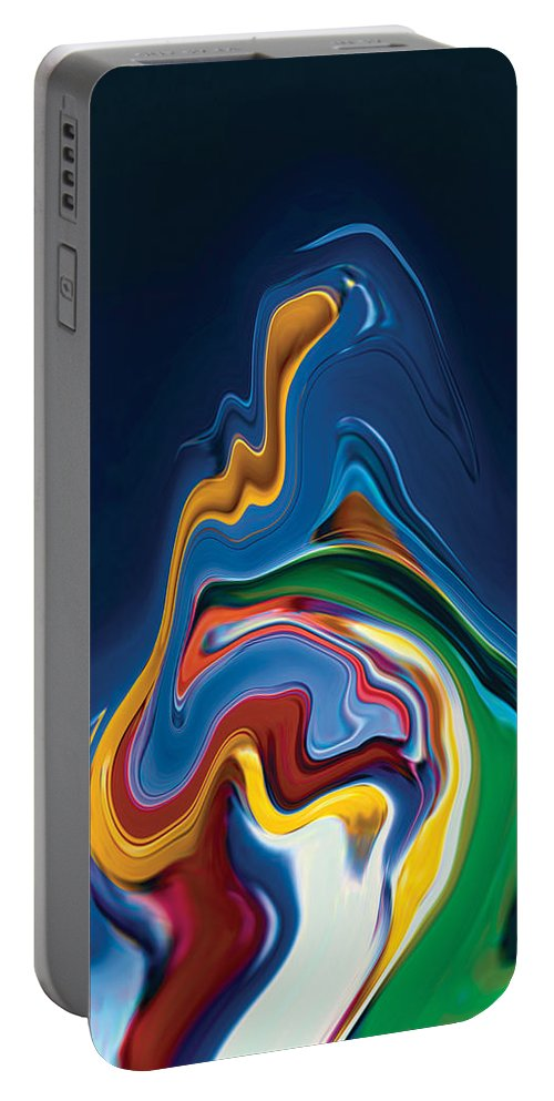 Portable Battery Charger featuring the digital art Embrace by Rabi Khan