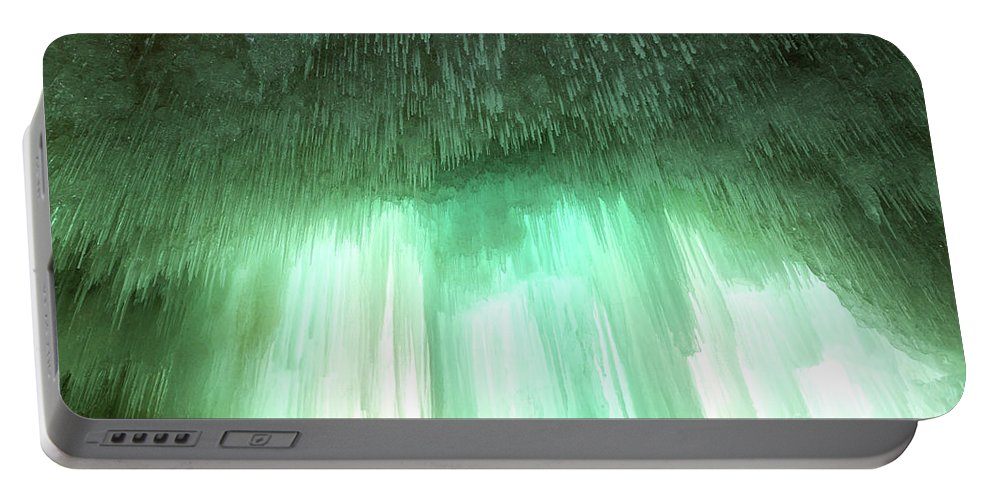 Cave Portable Battery Charger featuring the photograph Emerald Cave - Grand Island On Lake Superior by Craig Sterken