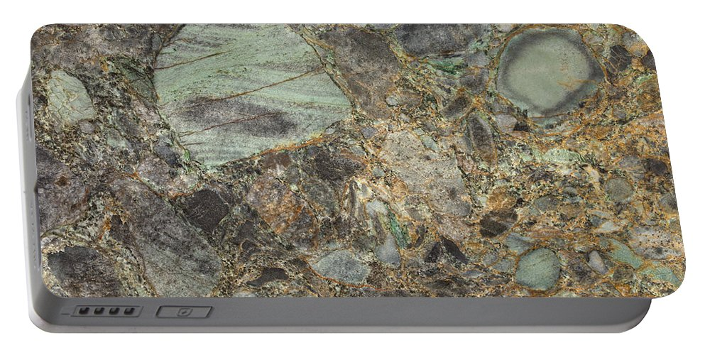 Granite Portable Battery Charger featuring the photograph Emerald Green Granite by Anthony Totah