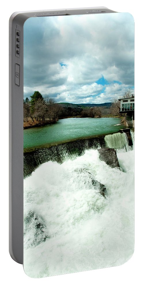 Covered Bridge Portable Battery Charger featuring the photograph Emerald by Greg Fortier