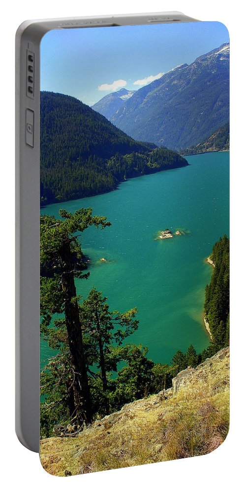 Lake Portable Battery Charger featuring the photograph Emerald Lake by Marty Koch
