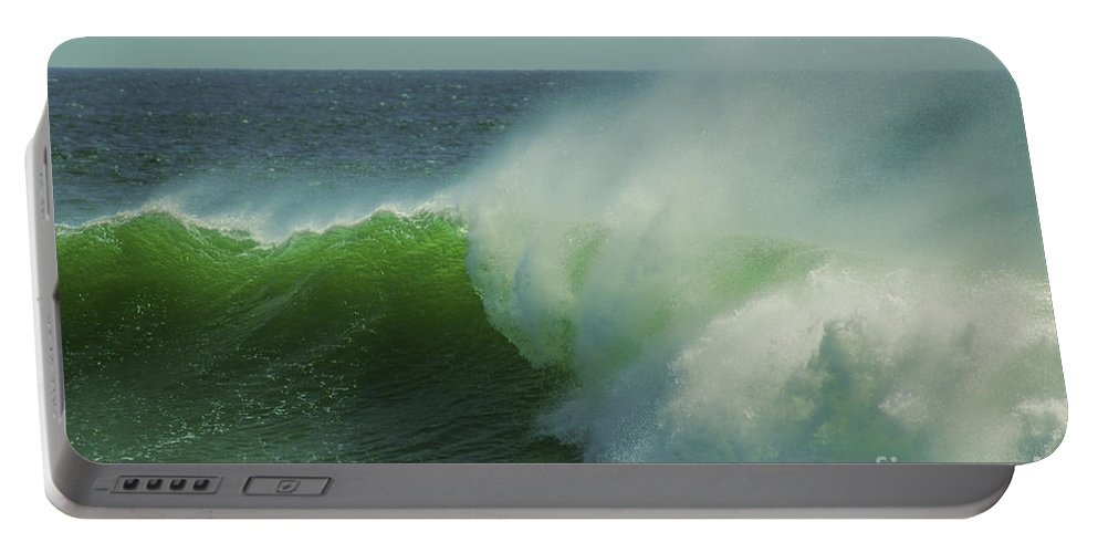 England Portable Battery Charger featuring the photograph Emerald Waters by Joe Geraci