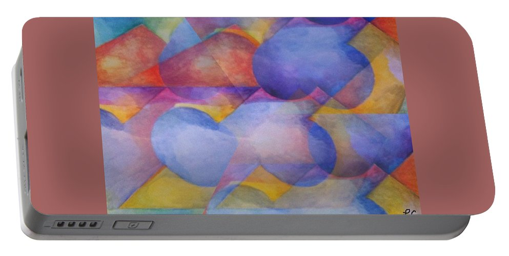Watercolor Art Portable Battery Charger featuring the painting Emotional Perspecitve by Laurie Cairone