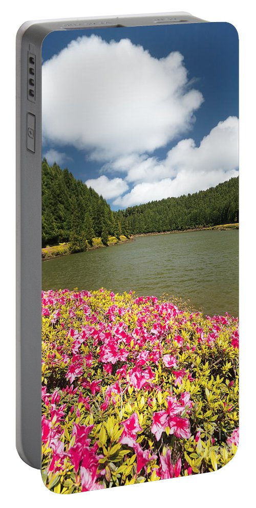 Portugal Portable Battery Charger featuring the photograph Empadadas Lakes II by Gaspar Avila