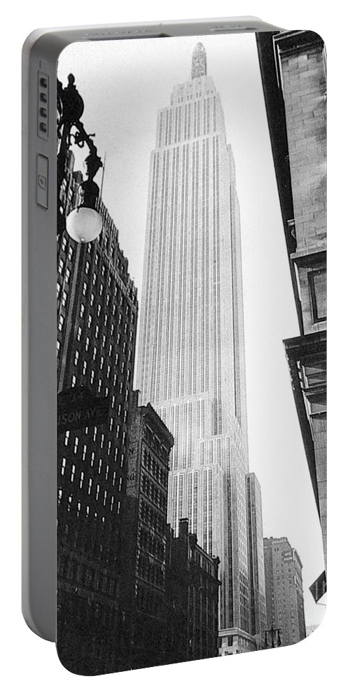 1931 Portable Battery Charger featuring the photograph Empire State Building, 1931 by Granger