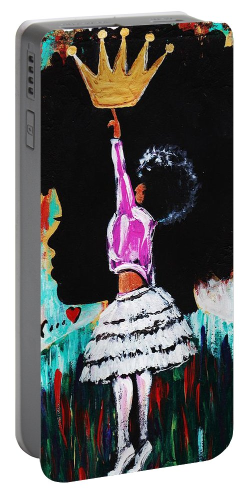 Artbyria Portable Battery Charger featuring the photograph Empower by Artist RiA