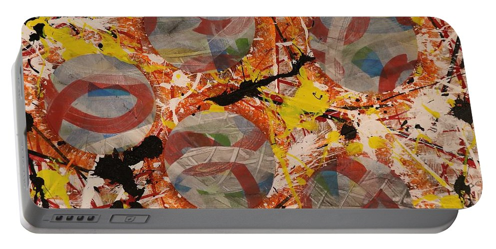 Acrylic Portable Battery Charger featuring the painting Empowered - 272 by Robert Dixon