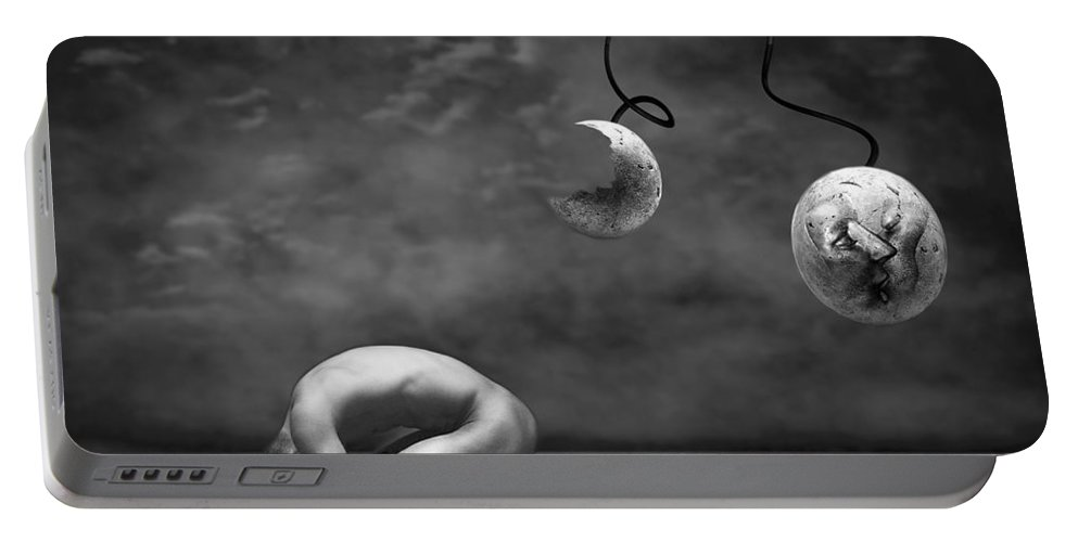 Photodream Portable Battery Charger featuring the photograph Emptiness II by Jacky Gerritsen